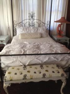 Guest bedroom in process