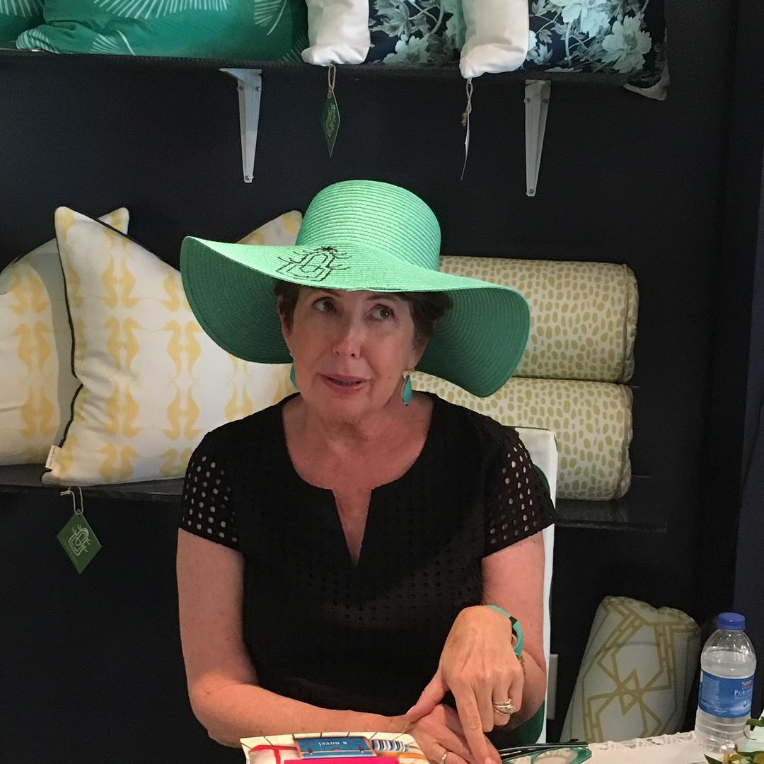 The @cottonandquill signature sun hat bring out the Southern Belle in me