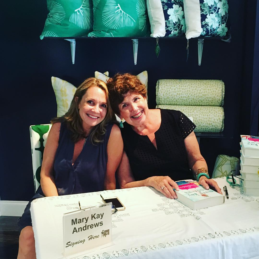 """Loved seeing my girl @pattichenry today at the gorgeous @cottonandquill in Mountain Brook today. I """"might"""" have bought myself a sweet prezzie weekenders"""