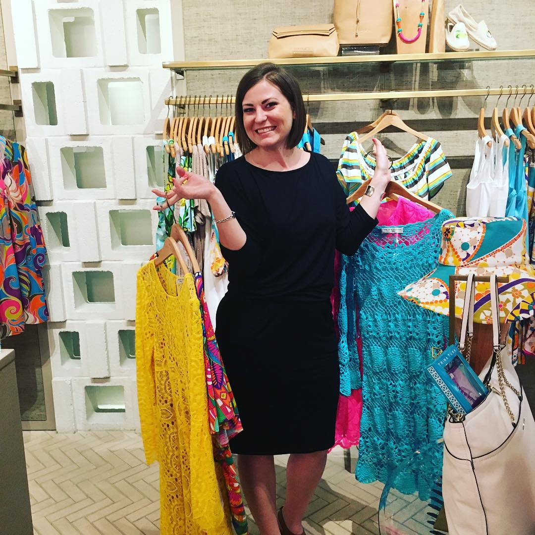 You know what your reward is for finishing your 24th novel and losing over 30 lbs.? Dress shopping for the launch party at @_trina_turk at Phipps! Thanks to Manager Brittany Green for making me feel so special!