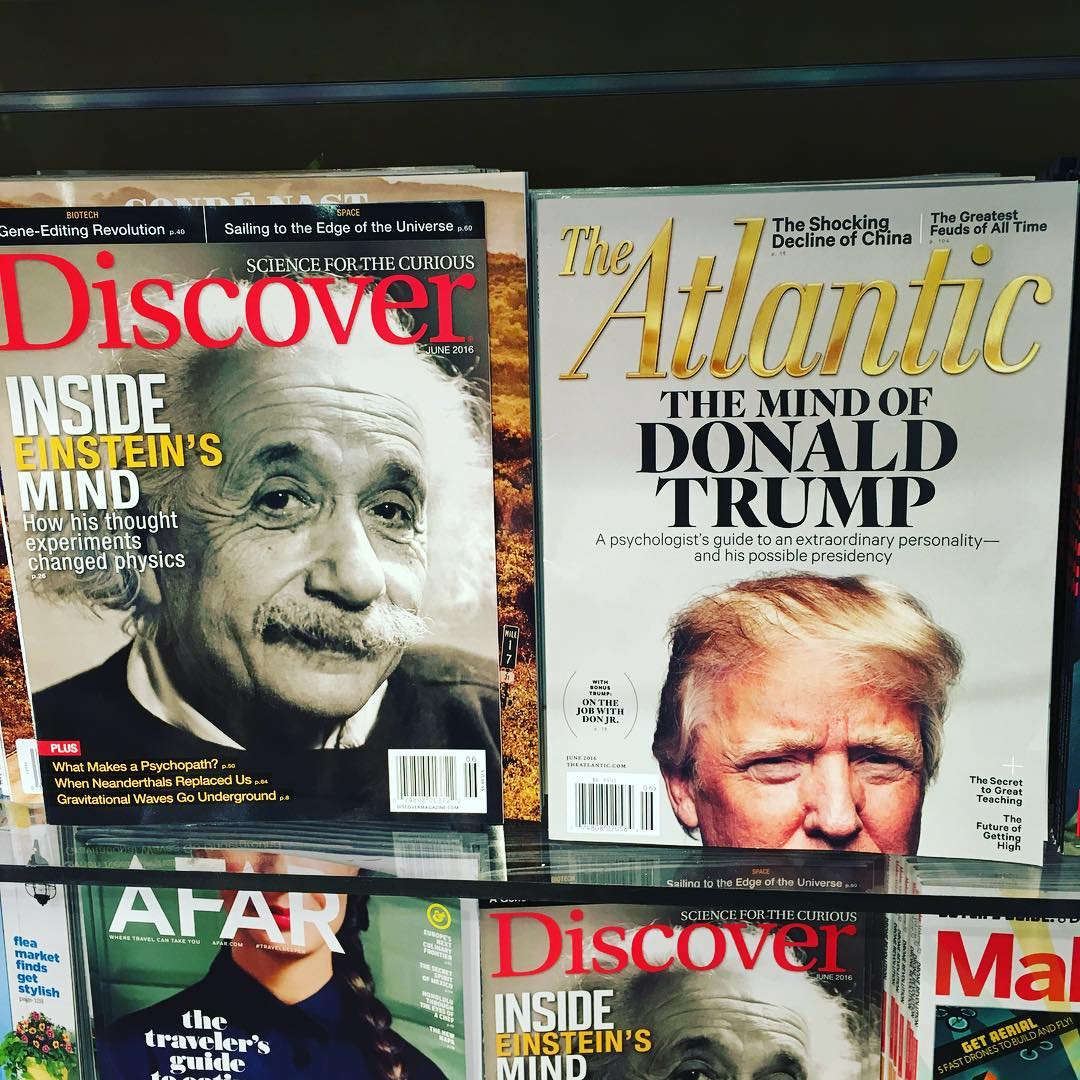 Whose mind would you rather mine? I'll take Einstein any day. I mean, the hair alone...