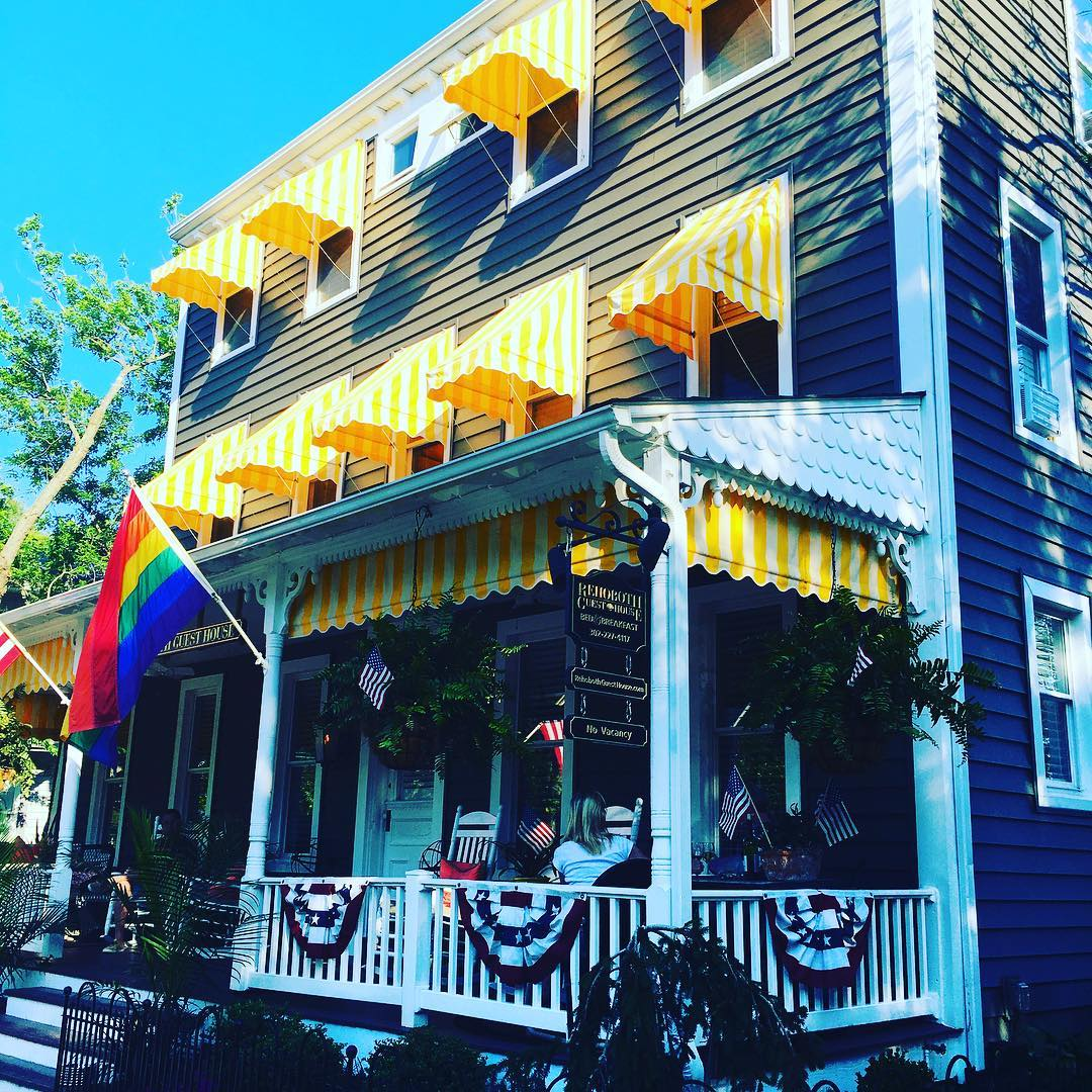 Picture perfect beach bed & breakfast in @rehoboth_beach. Unfortunately this is not where I am staying...