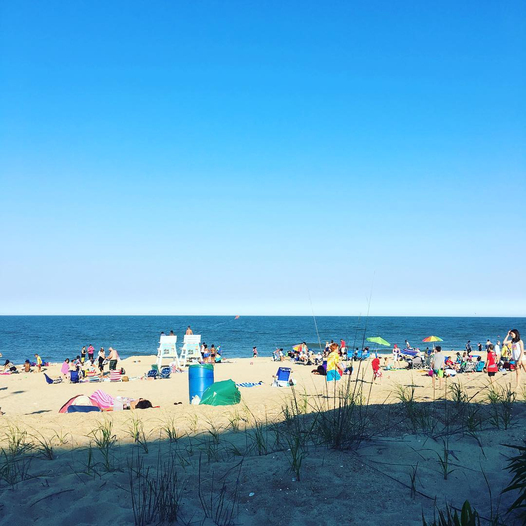 Beach scene from @rehoboth_beach