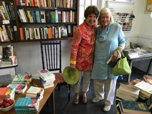 Here I am in Duck, NC visiting with longtime Nags Head resident Nancy Rascoe, who was so helpful when I was researching my book, SUMMER RENTAL.