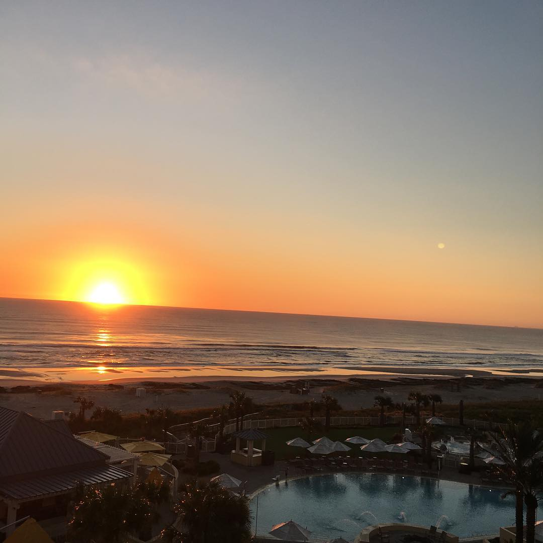 Good morning from Amelia Island!